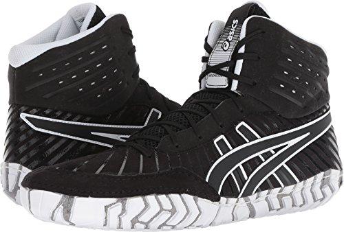 ASICS Aggressor 4 Men's Wrestling Shoes, Black/Black, Size 10.5