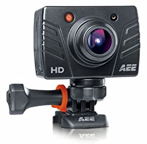 AEE MagiCam SD19 Waterproof 1080p 30 FPS HD Sports Action Camera with Remote Control, Waterproof Case and Mounting Accessories - Black