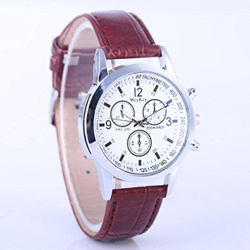 LtrottedJ Women's Men Casual Quartz Leather Band Newv Strap Watch, Analog Wrist Watch ()