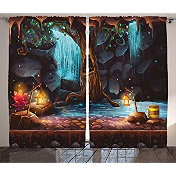 Amazon Com Outdoor Scenic View Curtains Desert Garden