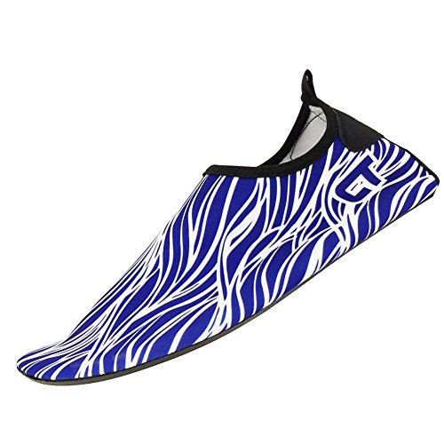 SENFI leichte Quick-Dry Wasser Schuhe für Wassersport Strand Pool Camp (Männer, Frauen, Kinder) R.blau