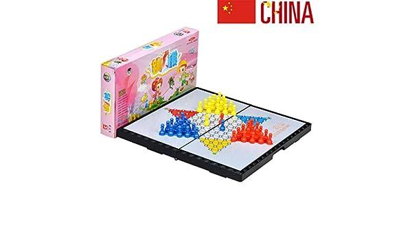 JinLiu Damas Chinas magnetico, Juego de Mesa Plegable tableropara 2 o más Jugadores (Importado) Grande: Amazon.es: Hogar