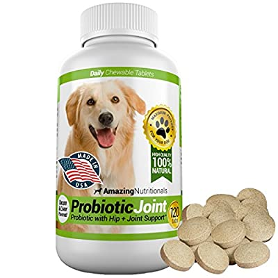 Amazing Nutritionals Probiotic Joint for Dogs, Bacon flavoured, 120 Tablets by Amazing Nutritionals