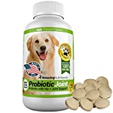Amazing Probiotics for Dogs Pure All-Natural - Eliminates Diarrhea, Gas, Hip Pain Relief - Tasty Unscented Food Grade Pet Probiotic Plus Joint Supplement, 120 Chews