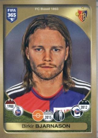 fan products of 2016-17 Panini FIFA 365 #223 Birkir Bjarnason FC Basel 1893 Soccer Sticker