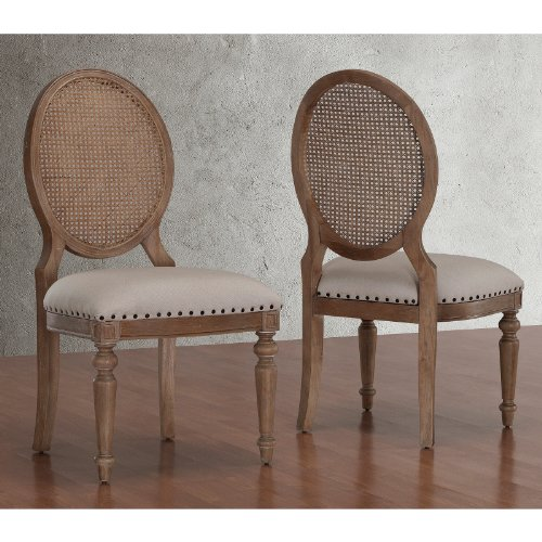 Metro Dining Room Chair - Metro Shop Elements Weathered Oak Cane Back Dining Chairs (Set of 2)