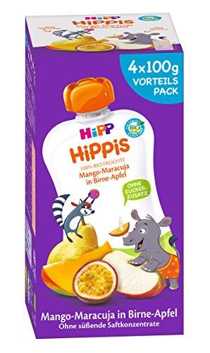 Hipp Hippis, Mango-Maracuja in Birne-Apfel - Nick Nashorn, 4er Pack (4 x 100 g) 8597