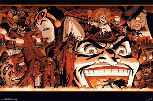 Pyramid International Batman Villains Collage Joker Catwoman Comic