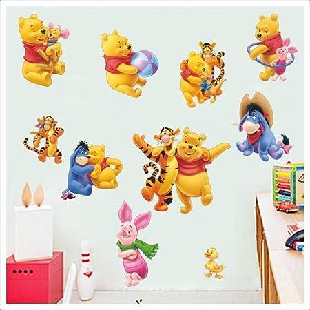 KIbi 2PCS Winnie The Pooh Friends Pegatinas Winnie the Pooh Pegatinas de Pared de Winnie the Pooh Para Ni/ños Stickers Winnie the Pooh Dormitorio Pegatinas Decorativas Pared Ni/ña//Ni/ño