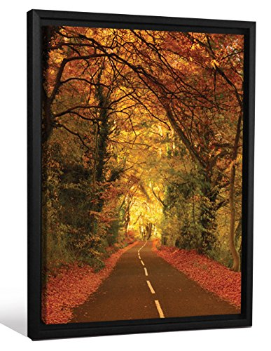 JP London FMCNV0079 Feature Wall Art 2 inch Thick Heavyweight Framed Stretched Canvas Wall Art Mural Open Road Harley Forest At 28 inch Wide By 40 inch (Harley Open Road Mural)