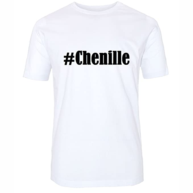 T-Shirt #Chenille Hashtag Raute für Damen Herren und Kinder ... in den Farben  Schwarz und Weiss: Amazon.de: Bekleidung
