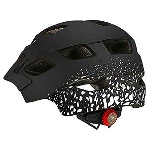 L.BAN Casque de vélo Casque de Planche à roulettes de vélo Hoverboard, Casque Respirant réglable léger de sécurité avec feu arrière adapté aux Enfants, C