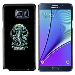 TECHCASE---Cubierta de la caja de protección para la piel dura ** Samsung Galaxy Note 5 ** --Arkaik cráneo y del elefante