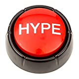 Get HYPED Button | Hip Hop Air Horn Sound Effect Button (BATTERIES INCLUDED)