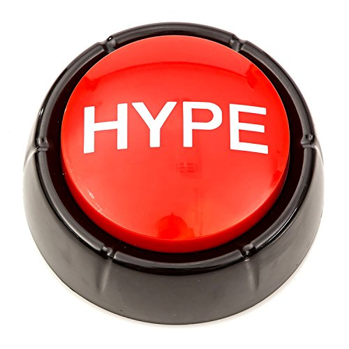 Cheapest Prices! Get HYPED Button | Hip Hop Air Horn Sound Effect Button (BATTERIES INCLUDED)
