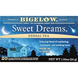 Bigelow Sweet Dreams Herbal Tea 20 Bags (Pack of 6) Caffeine-Free Individual Herbal Tisane Bags, for Hot Tea or Iced Tea, Drink Plain or Sweetened with Honey or Sugar