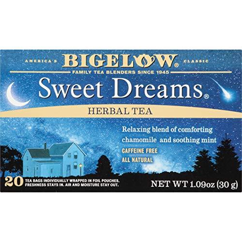 Bigelow Sweet Dreams Herbal Tea 20 Bags (Pack of 6) Caffeine-Free Individual Herbal Tisane Bags, for Hot Tea or Iced Tea, Drink Plain or Sweetened with Honey or Sugar