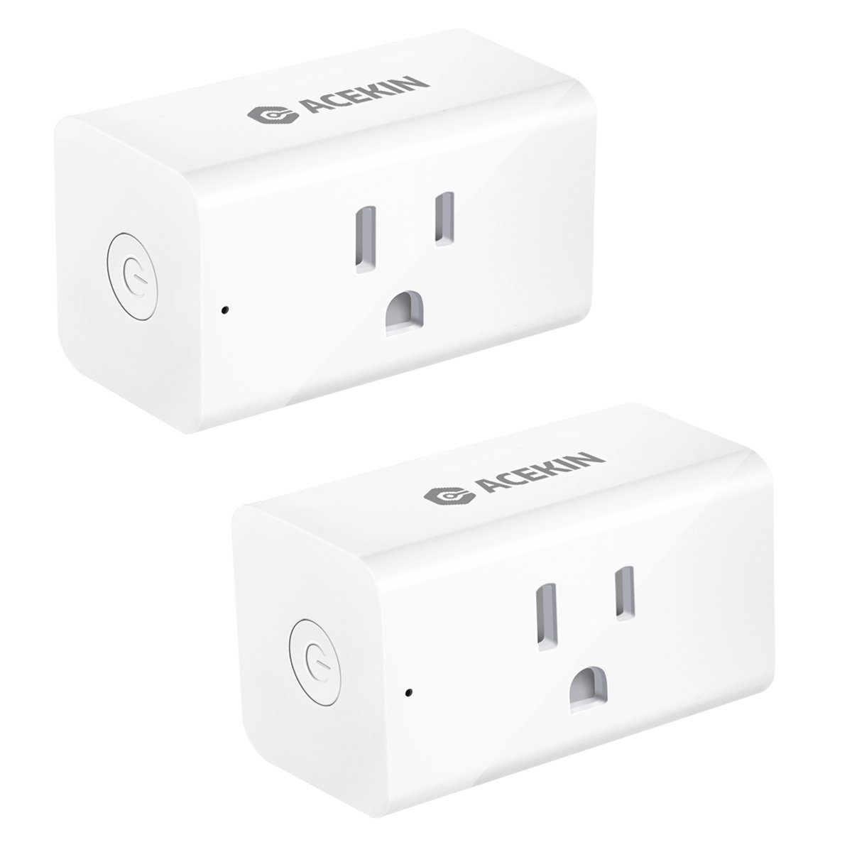 ACEKIN Smart Plug 2 Pack WiFi Smart Outlet Compatible with Amazon Alexa Google Assistant IFTTT Remote Control Your Devices (AC 110-125V/15A/MAX 1800W)