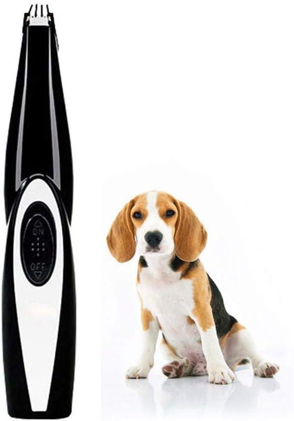 HUONIUPIC Cortadoras de peluquería Profesional para Perros Cortadoras de Perros para Gatos Recortador de Pelo para Mascotas Diseño inalámbrico Recargable Eléctrico de bajo Ruido (A)