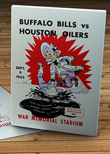 1962 Vintage Buffalo Bills - Houston Oilers Football Program - Canvas Gallery Wrap - 10 x 14 (Houston Oilers 1962)