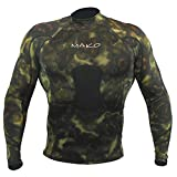 Wetsuit Shirt Spearfishing Green Camouflage Lycra