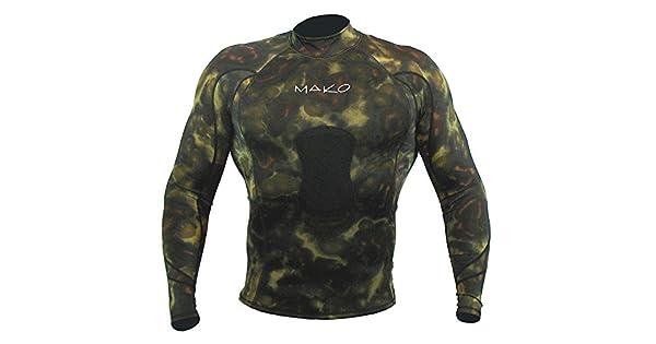Amazon.com: Traje de neopreno camisa Spearfishing Verde ...