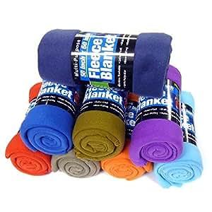 Fleece Throw Blanket - 50 Inch Children's Blanket - (Colors May Vary)