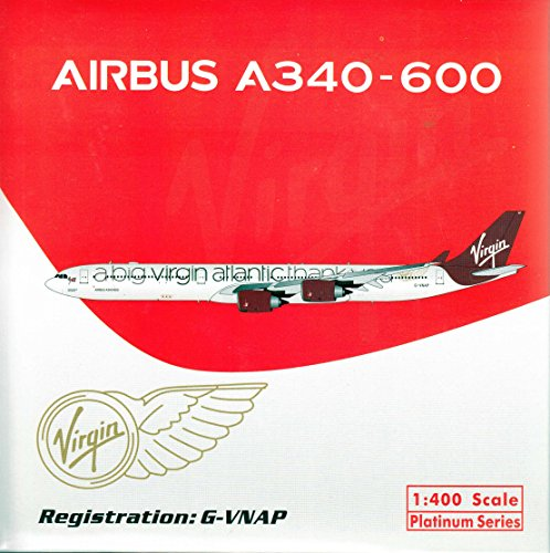 Phoenix Model Phx1746 1 400 Virgin Atlantic Airbus A340 600 Reg  G Vnap  Pre Painted Pre Built