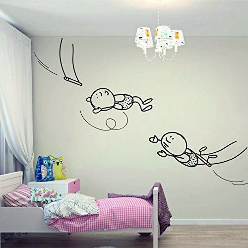 wall-decal-interior-vinyl-sticker-decals-art-decor-design-fabulous-heroes-swing-acrobats-circus-jump