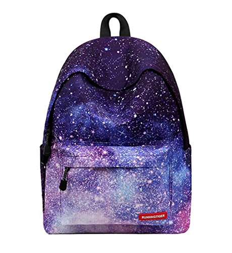 KISS GOLD(TM) Unisex Nylon Galaxy Pattern Laptop Backpack Rucksack Daypack, Stars