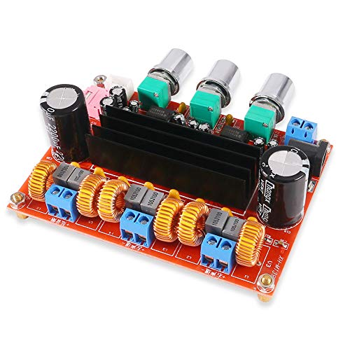 TPA3116D2 Amplifier Board, 2.1 Channel Class D Digital Power Audio Stereo AMP Module 2 x 50W+100W(Left,Right & Subwoofer) for Audio System DIY Speakers, XH-M139