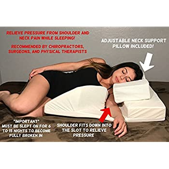 Amazon Com Dmi Side Sleeper Body Pillow With Contoured