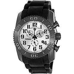 Swiss Legend Men's 11876-TIB-02S Commander Titanium Analog Display Swiss Quartz Black Watch