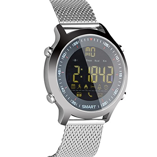 Bluetooth Smart Watch,Mens IP68 Digital Sports Watch Waterproof Outdoor Military Pedometer Calorie Counter Multifunction for Men Android iOS