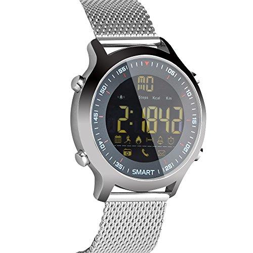 (L&M Smart Watch Sports Bluetooth 5a Tm Ip67 Waterproof Wristband Stopwatch Alarm Clock Long Standby Remote Camera Night Light,A)