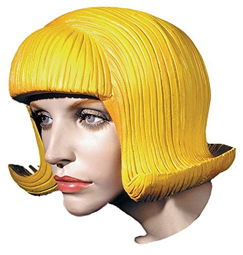(Distortions Women's Short Flip Rubber Latex Wig Adult Halloween Costume)