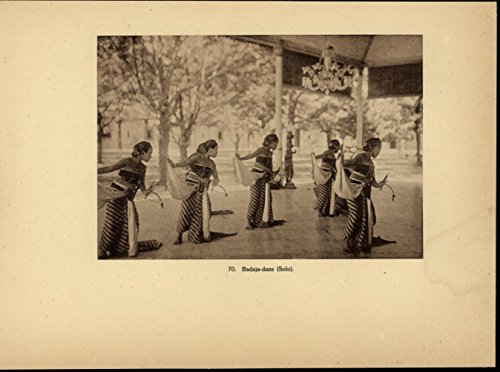[Badaja Dance Group Costume Posture nice 1931 Indonesia Java Deco Dutch print] (Dance Group Costumes)
