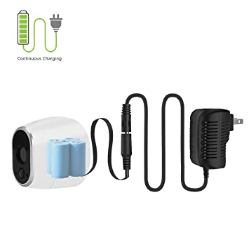 LANMU Power Adapter for NETGEAR Arlo Security Camera (Replace Lithium  Batteries CR123A)