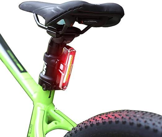 SCFUK USB Cargador Bicicleta Luces Traseras Advertencia Luz ...