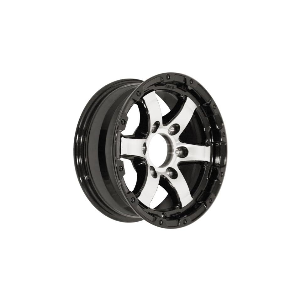 14x5.5 Sendel T08 Trailer Gloss Black & Machined Wheel Rim 5x114.3 5x4.5 0mm Offset 123.95mm Hub Bore Automotive