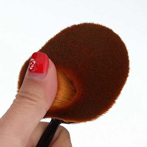 Kingstar Oval Makeup Brush Cosmetic Foundation Cream Powder Blush Makeup Tool(Black)