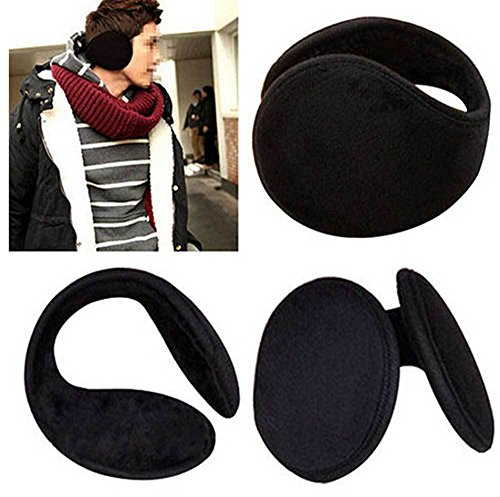 2 pack winter fleece ear muff warmers behind the ear. Black Bedroom Furniture Sets. Home Design Ideas