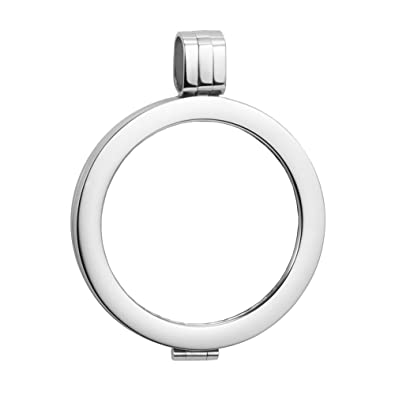 U deserved jewelry ladies silver plated stainless steel 27mm coin u deserved jewelry ladies silver plated stainless steel 27mm coin holder pendant for 25mm coin necklace aloadofball Image collections