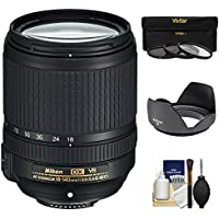 Nikon 18-140mm f/3.5-5.6G VR DX ED AF-S Nikkor-Zoom Lens with 3 UV/CPL/ND8 Filters + Hood + Kit for D3200, D3300, D5300, D5500, D7100, D7200 Cameras