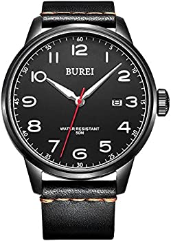 Burei Quartz Big Face Wrist Men's Watches