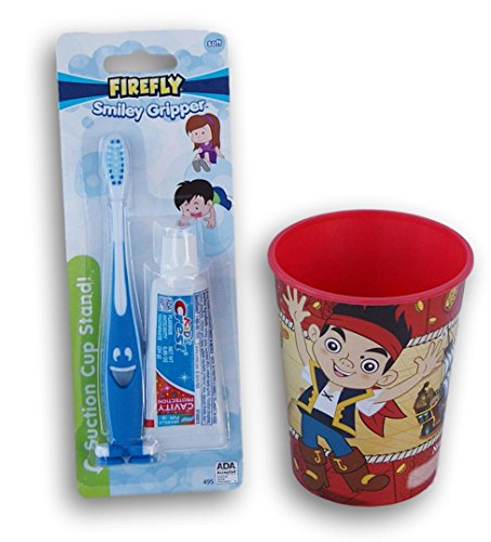 Jake and the Neverland Pirates Tooth Brushing Kit - Toothbrush, Toothpaste, and Rinsing -