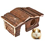 Awtang Hamster Chewing Toy Natural Wooden House Safe Hideout Hut for Mice&Gerbils