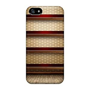 Fashionable Tqo4040kEMw Iphone 5/5s Case Cover For Wooden Shelves Protective Case