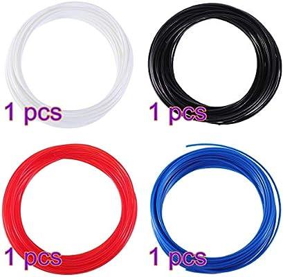UKCOCO 4 rollos 10M fila 3D filamento recargas 1.75 mm filamento ...