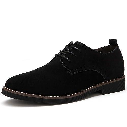 Zapatos de Vestir para Hombres Punta Estrecha Oficina Gamuza ...
